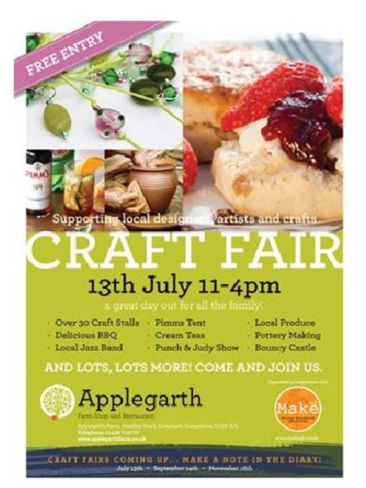 Applegarth Farm, Grayshott – Craft Fair – 13th July