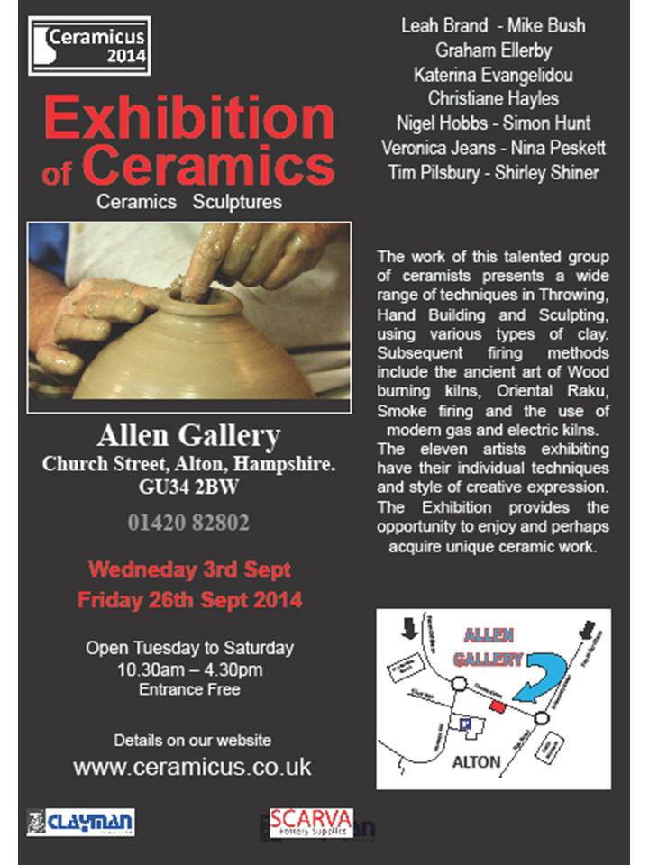 Ceramicus Exhibition – Sept 2014