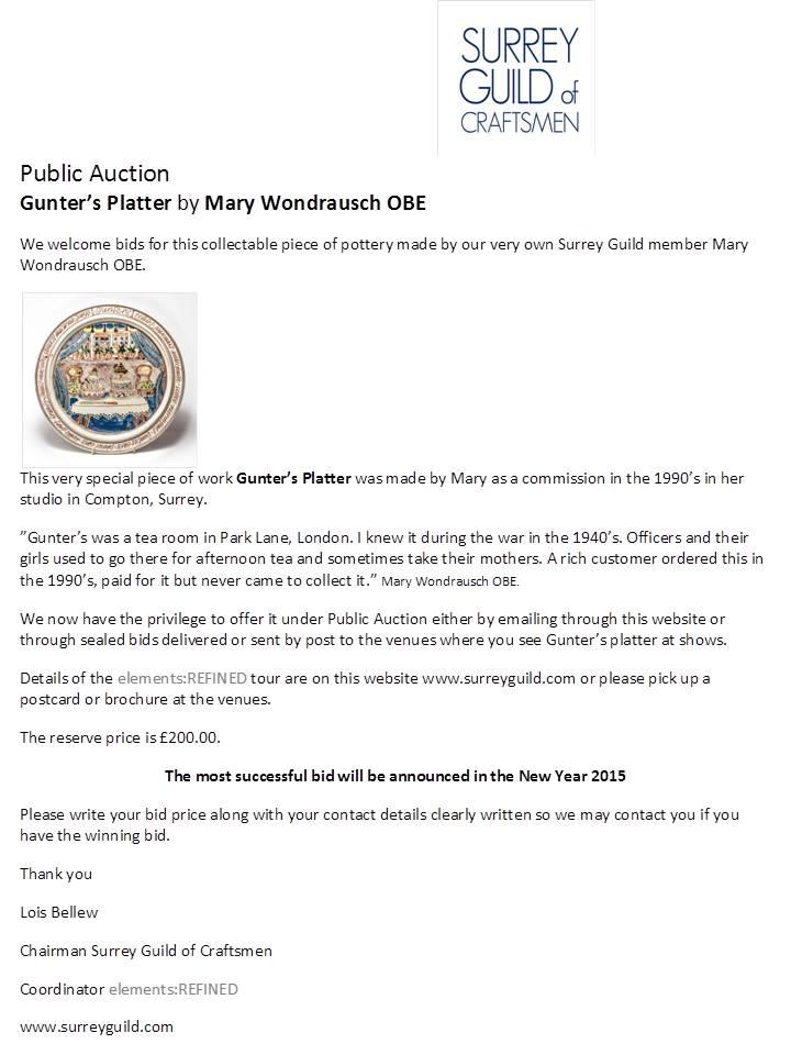 Mary Wondraush Auction