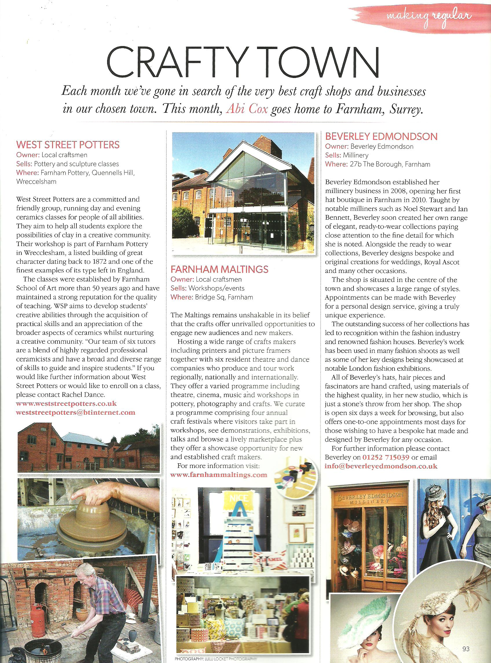 WSP feature in 'Making' Magazine