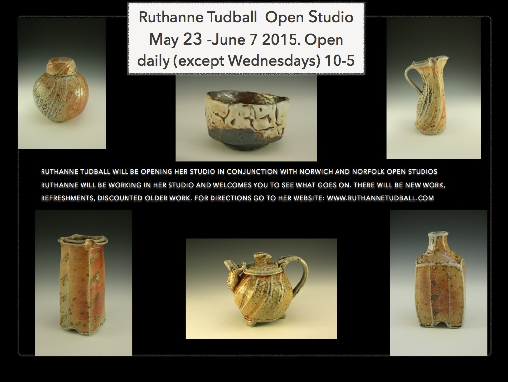 Ruthanne Tudball Open Studio – 23rd May – 7th June 2015