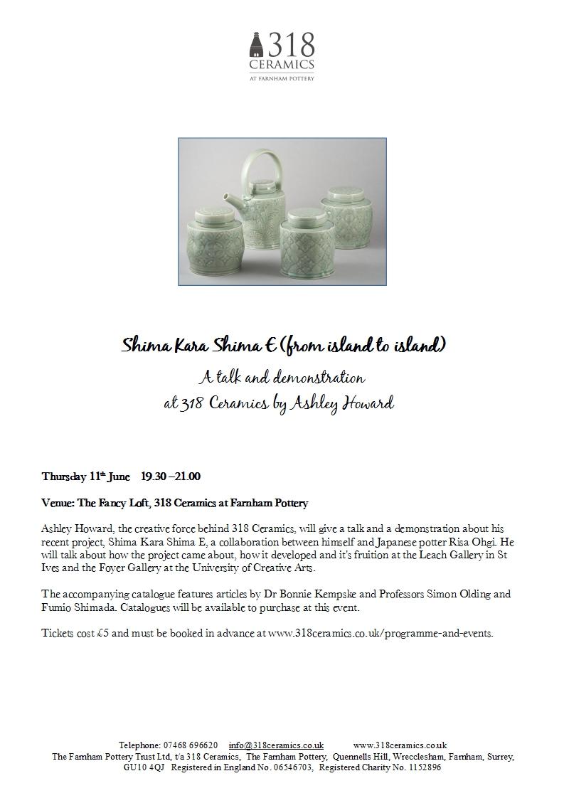 Shima Kara Shima – Ashley Howard Talk and Demostration