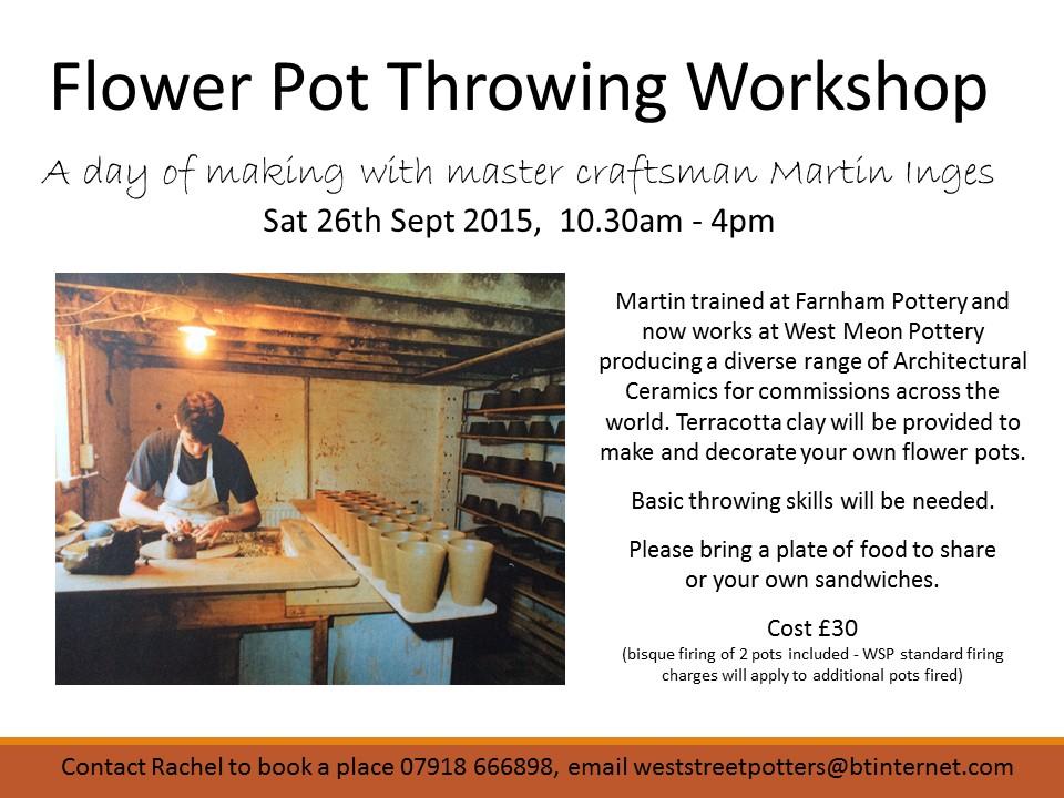 Flower Pot Throwing Workshop