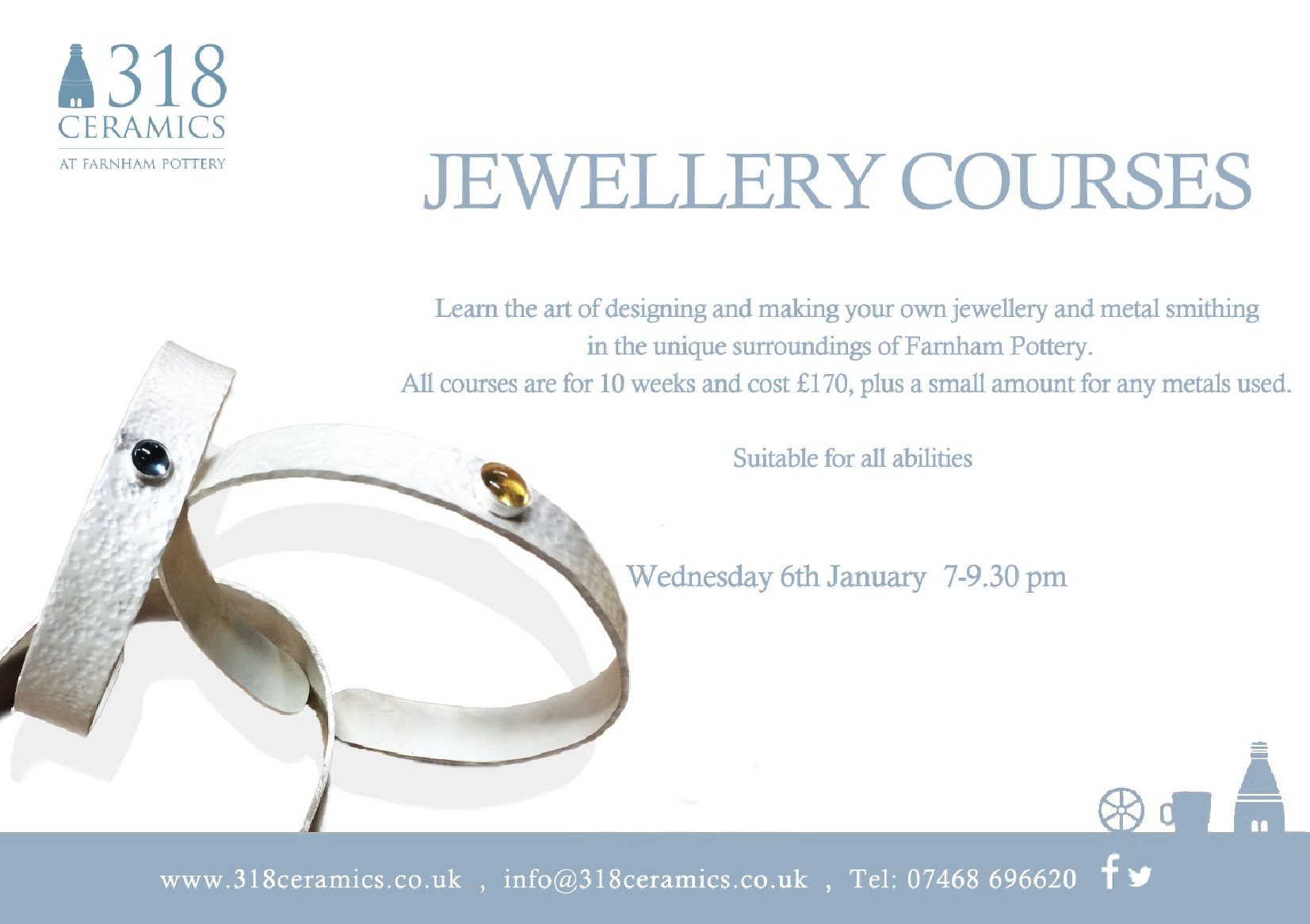 318 Ceramics – Jewellery Course