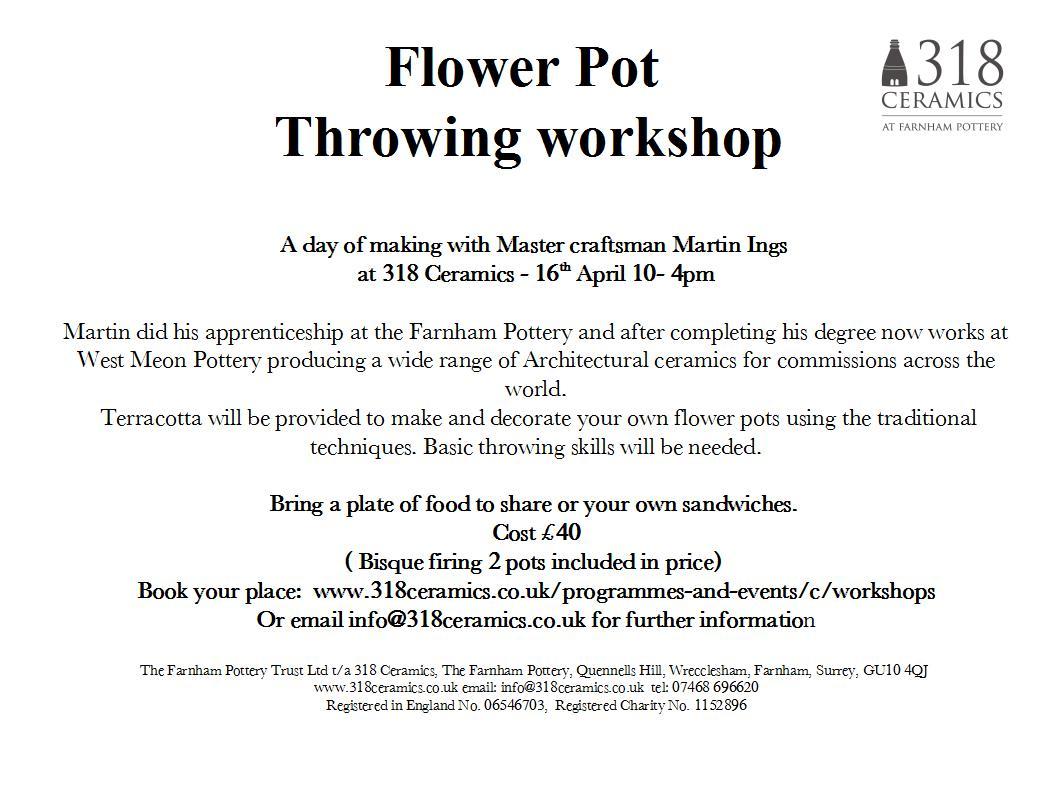 Flower Pot Workshop – 16th April
