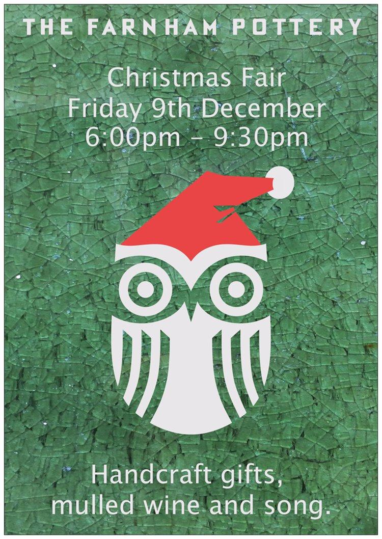 Christmas Market at Farnham Pottery this Friday! Ho Ho Ho….