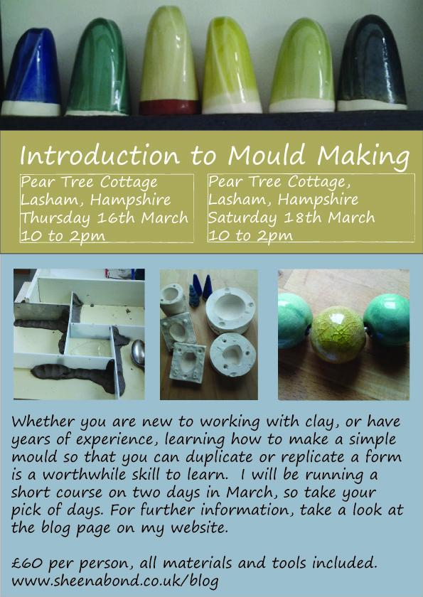 Mould Making Workshop with Sheena Bond