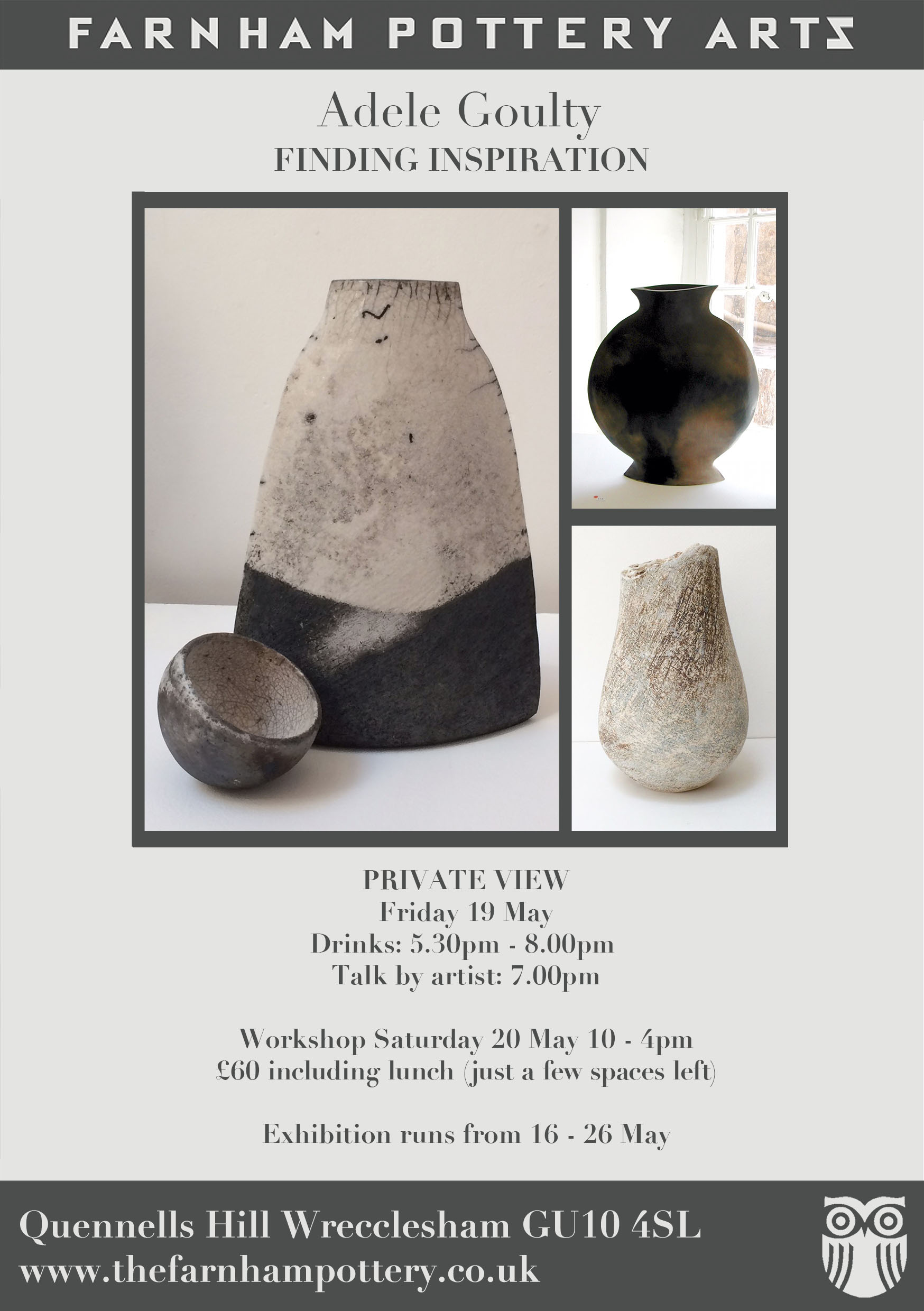Adele Goulty – Workshop 20th May and Exhibition